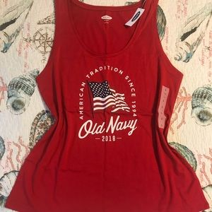 Old navy flag tank